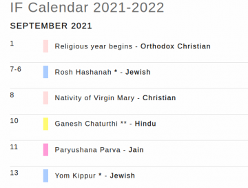IF calendar 2021-222 snapshot