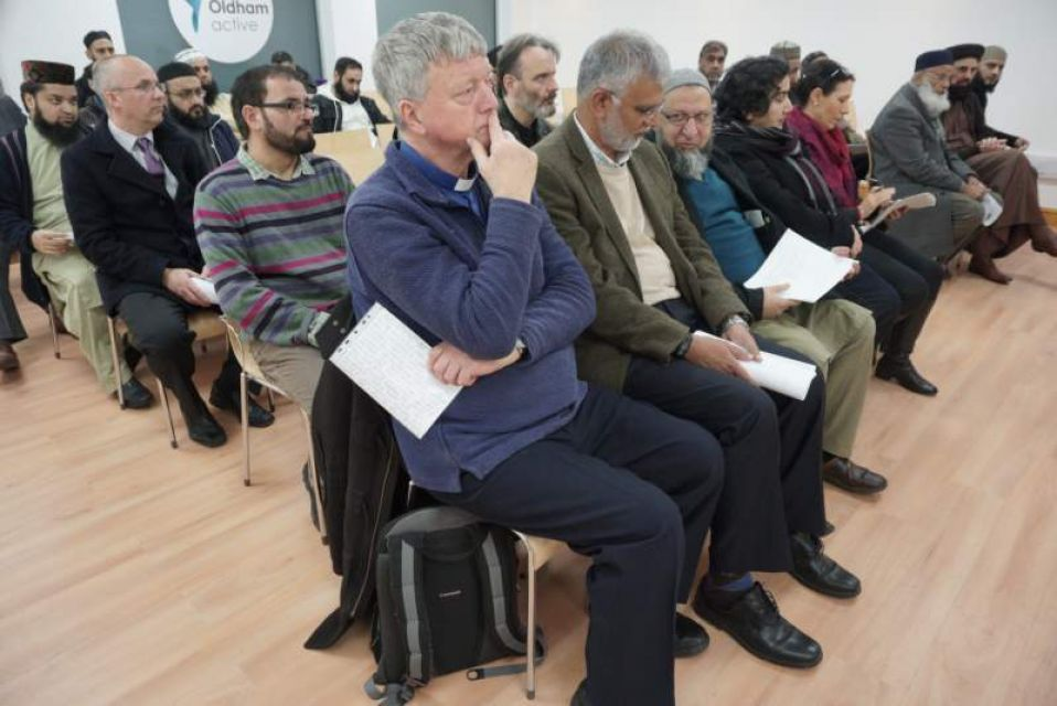 Audience at the launch, Fazal R$ahim and Howard Sutcliffe on left