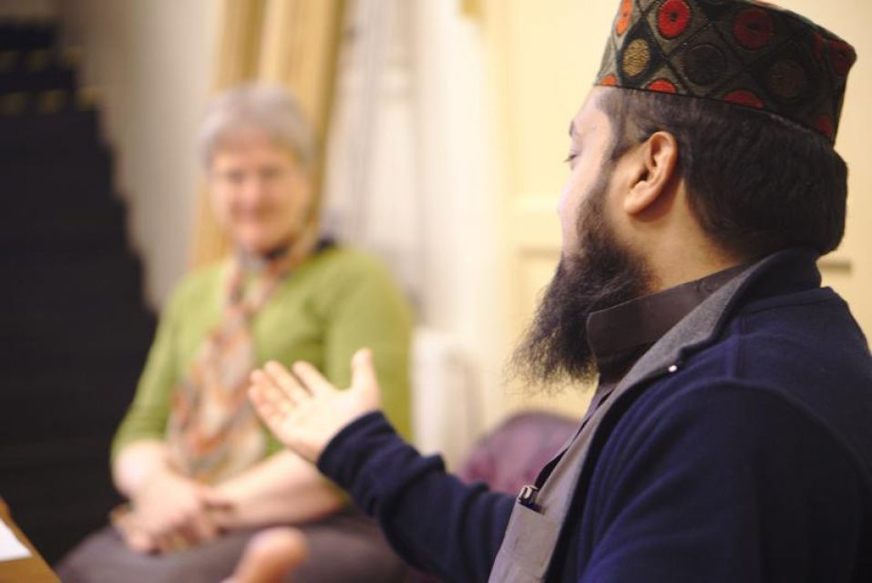 Mufti Mahmood Helal speaking to Churches together group