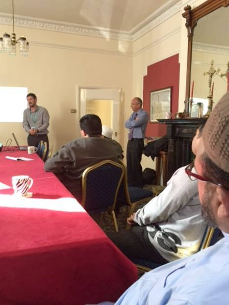 members of Oldham Mosques Council being given CT training