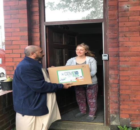 EIC delivering iCare parcels