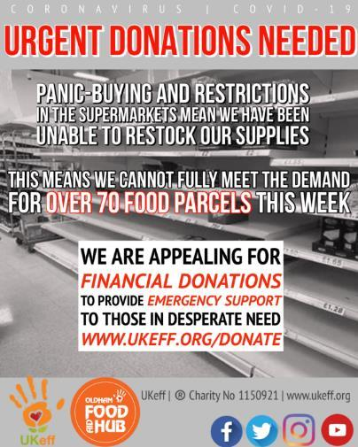 UKeff Ramadan Appeal in support of Food Hub
