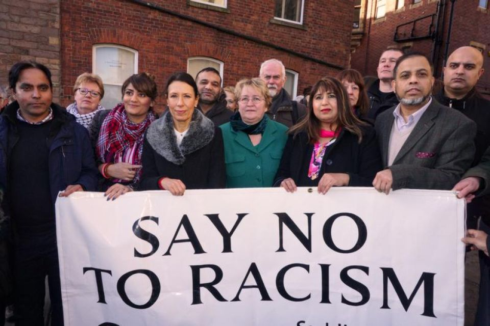 Group outside Oldham Parish Church