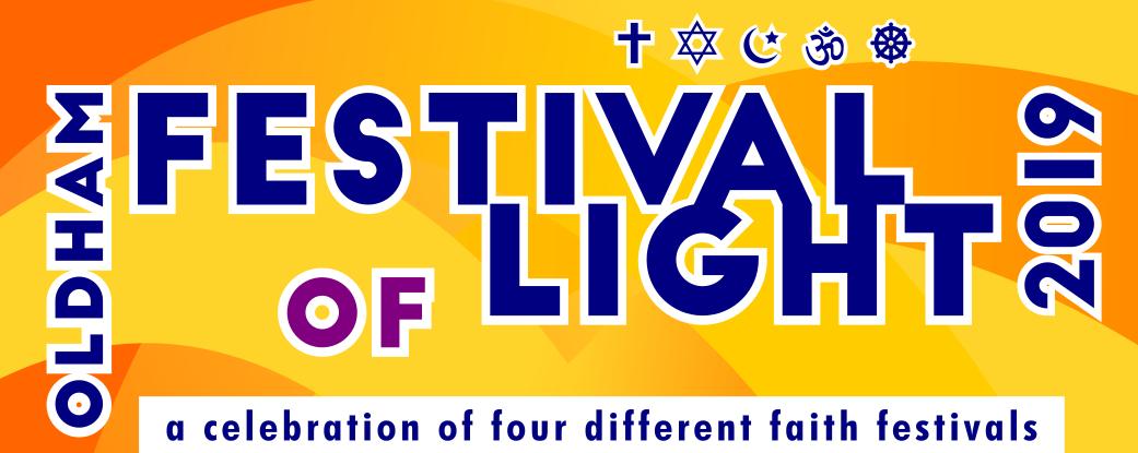 Poster for Oldham Festival of light 2019