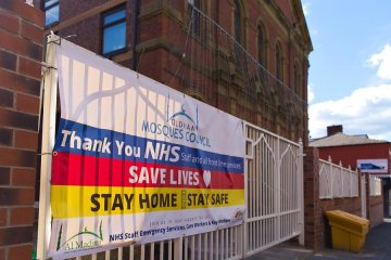 Oldham Mosques showing their support for NHS during the Covid-19 pandemic